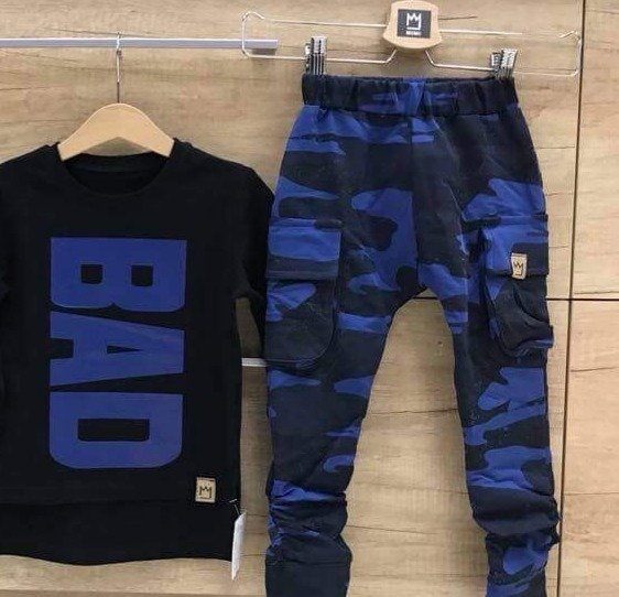 CARGO  PANTS  WARMED CAMOUFLAGE BLUE