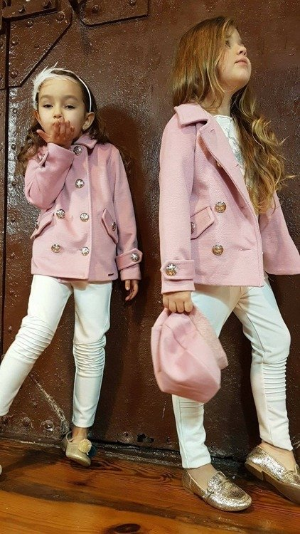 COAT GOLDEN BUTTON POWDER PINK