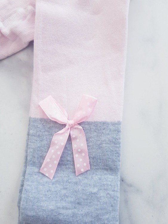 COTTON TIGHTS BOW