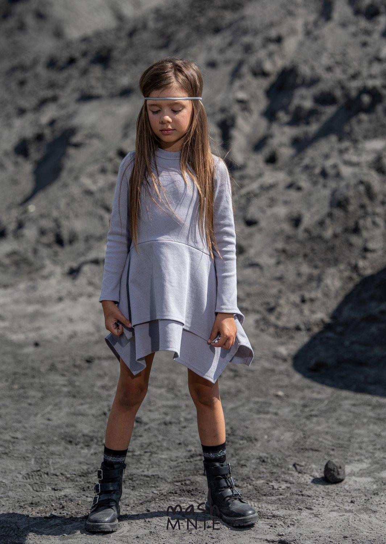 Kleid Asymmetrich Grau SZARY | NEU MÄDCHEN \ KLEIDER ...
