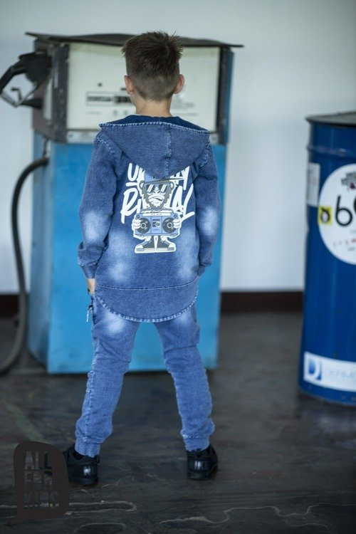 All For Kids Bluza z Kapturem Jeans